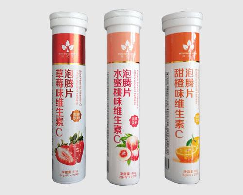 草莓/水蜜桃/甜橙味维生素C泡腾片