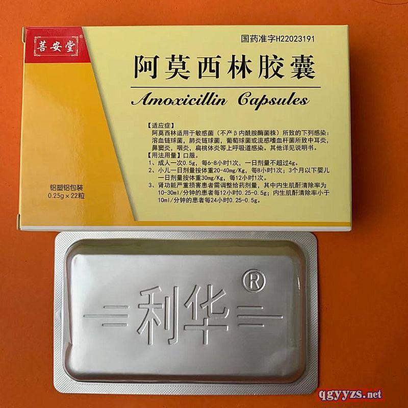 阿莫西林胶囊(双吕泡罩)